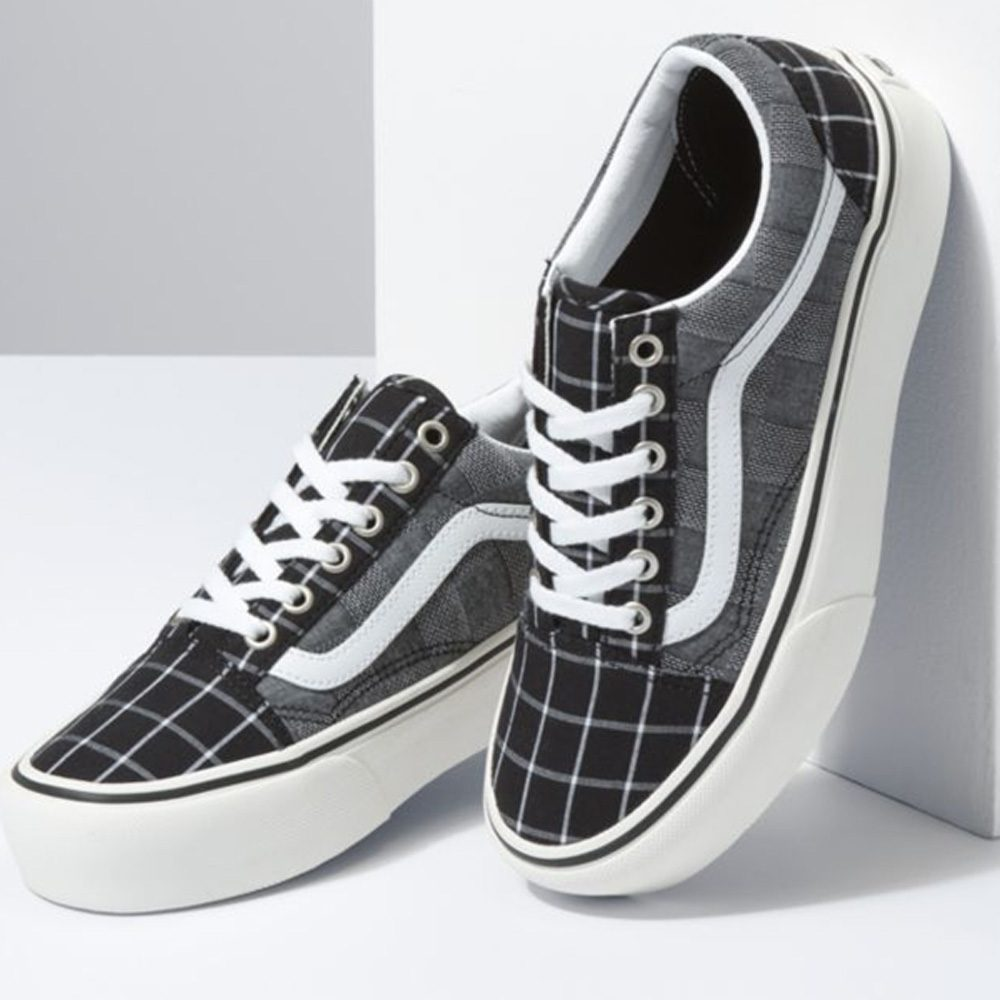 Vans Old Skool Platform Woven Check Sneaker Damen