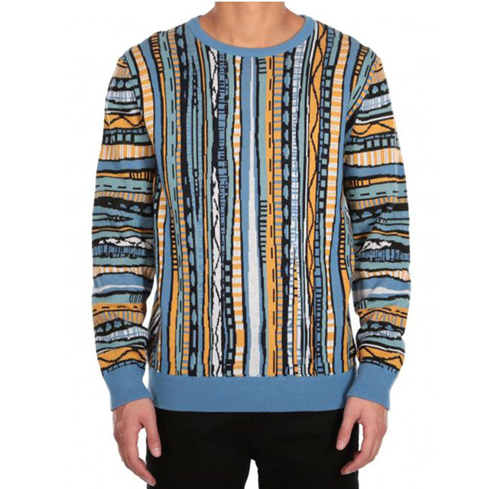 Iriedaily Theodore Knit Herren Feinstrickpullover colored blue