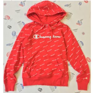 Champion Frauen All Over Logo Kapuzenpullover