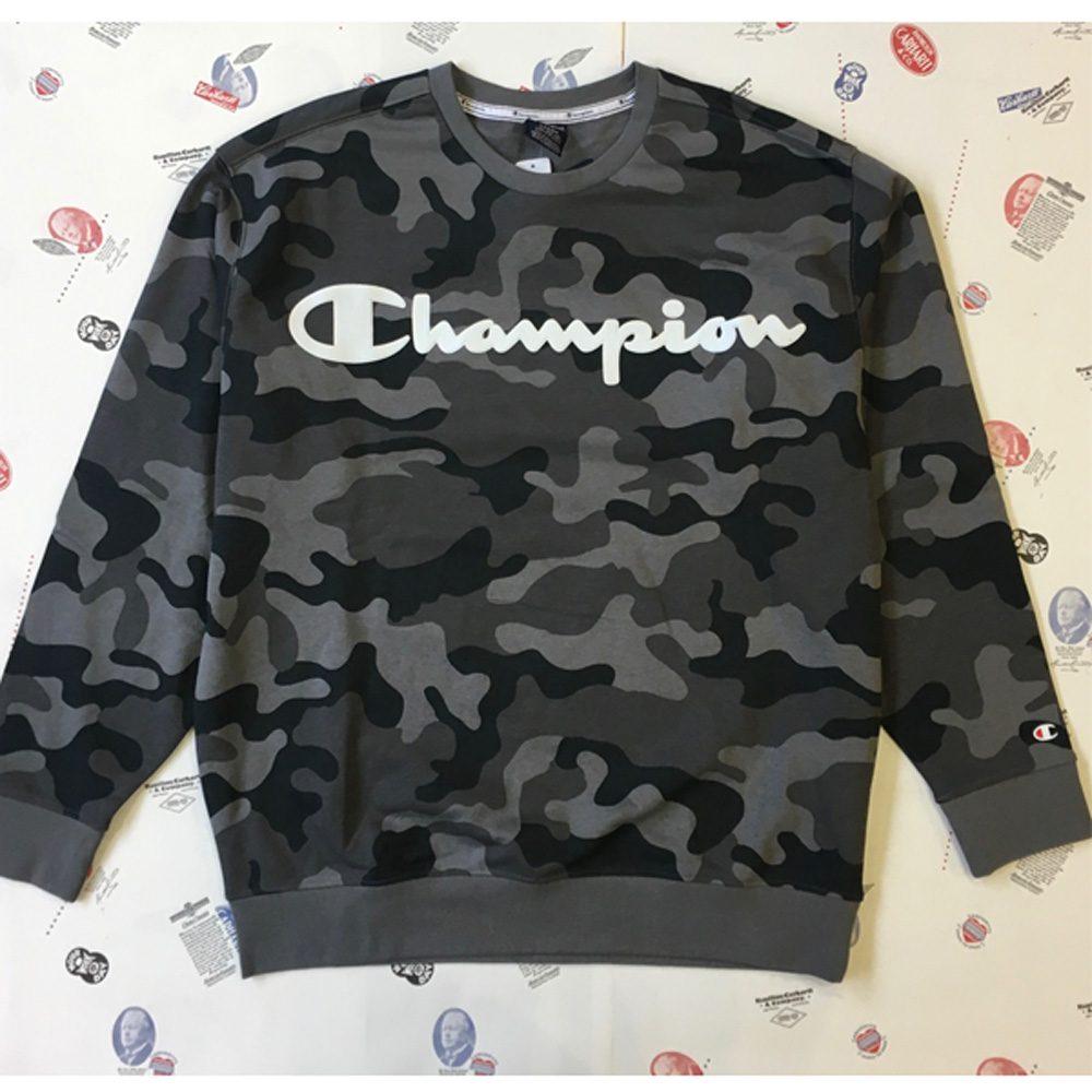 Champion Pullover Herren grau/camouflage