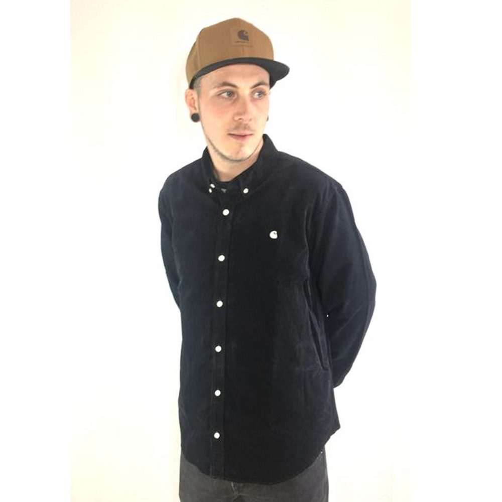 Carhartt WIP Madison Fine Cord Shirt Hemd black
