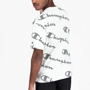 Champion Printlogo Allover-Streifeneffekt T-Shirt