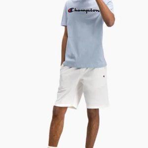 Champion Satin Rundhals T-Shirt Herren hellblau