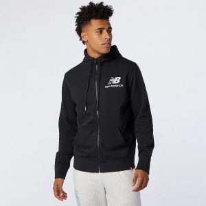 New Balance Essentials Stacked Full Zip Hoodie