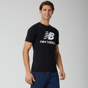 New Balance Essentials Stacked Logo T-Shirt schwarz
