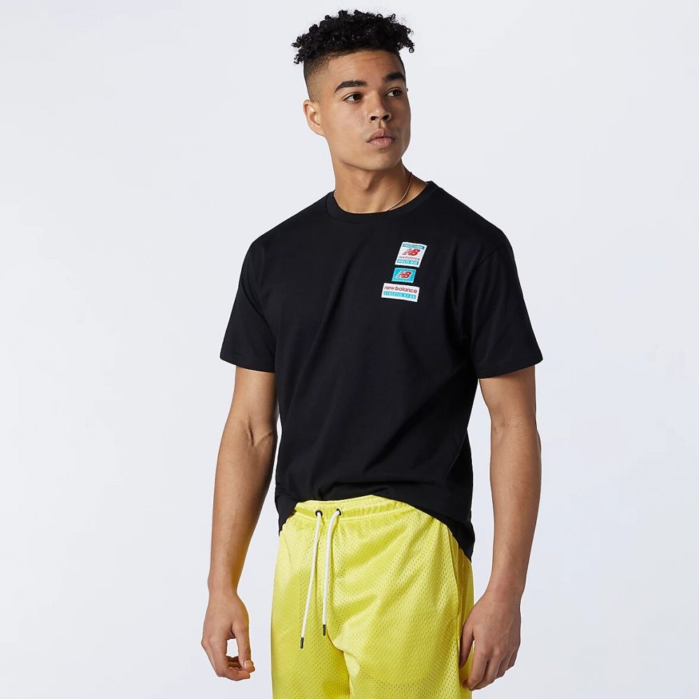 New Balance Essentials Tag T-Shirt schwarz
