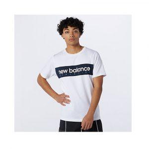 New Balance Linear NB T-Shirt Herren weiß