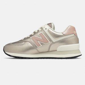 New Balance WL574 PM2 Sneaker Damen silber/rosa