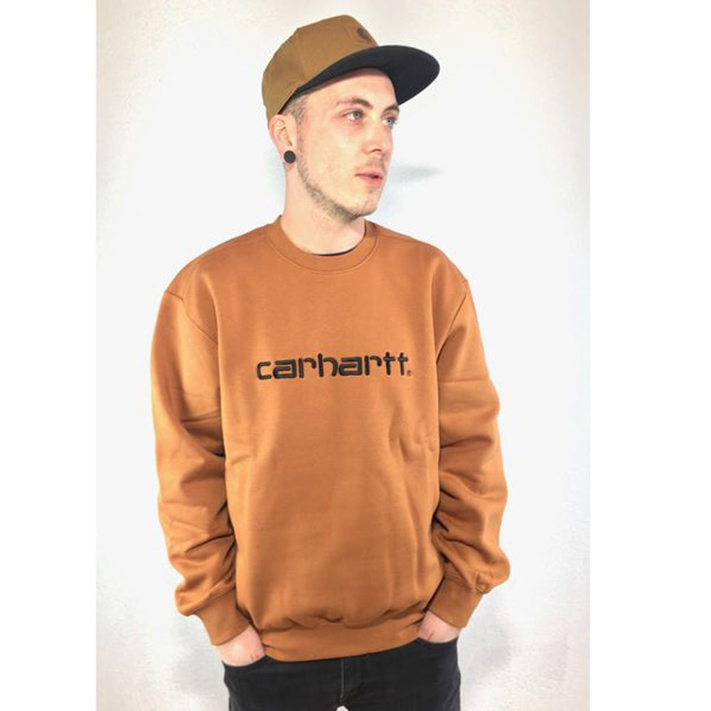 Carhartt WIP Sweatshirt Rum Herren braun