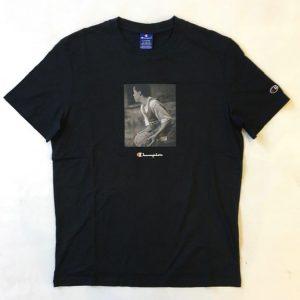 Champion T-Shirt Playtime Photo Print Herren schwarz