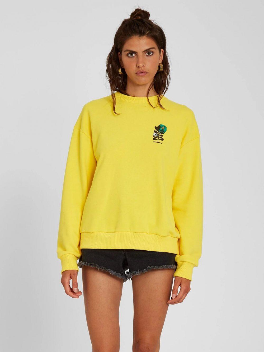 Volcom Volcheck Sweatshirt Damen gelb